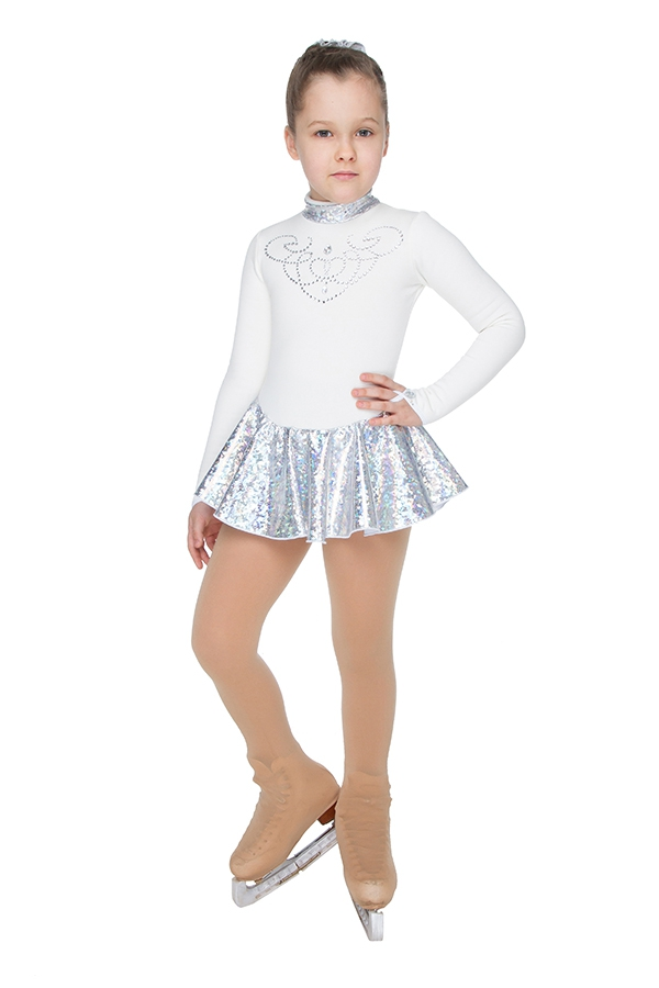 Competition dress (white/silver)