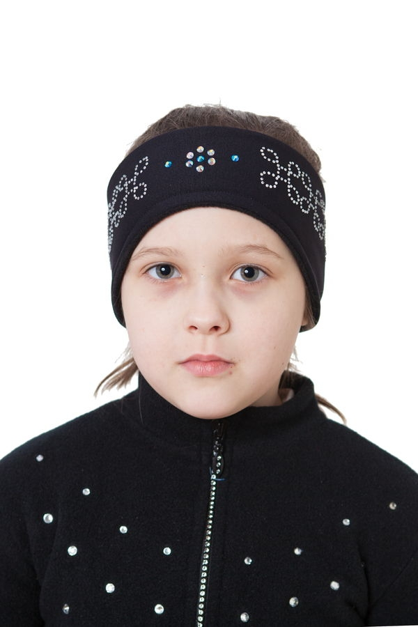Black Headband with Crystals